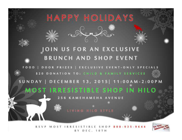 MISH-LHS Holiday Event