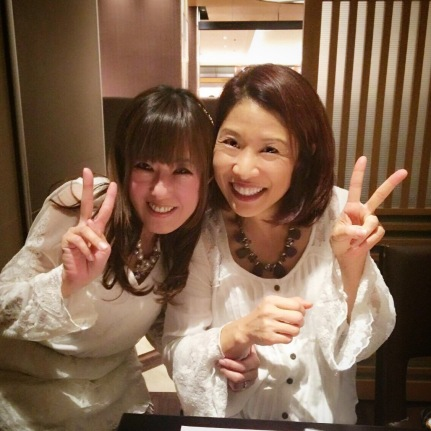 With cousin Satomi