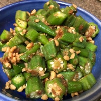 Simple and Healthy:  Okra Natto