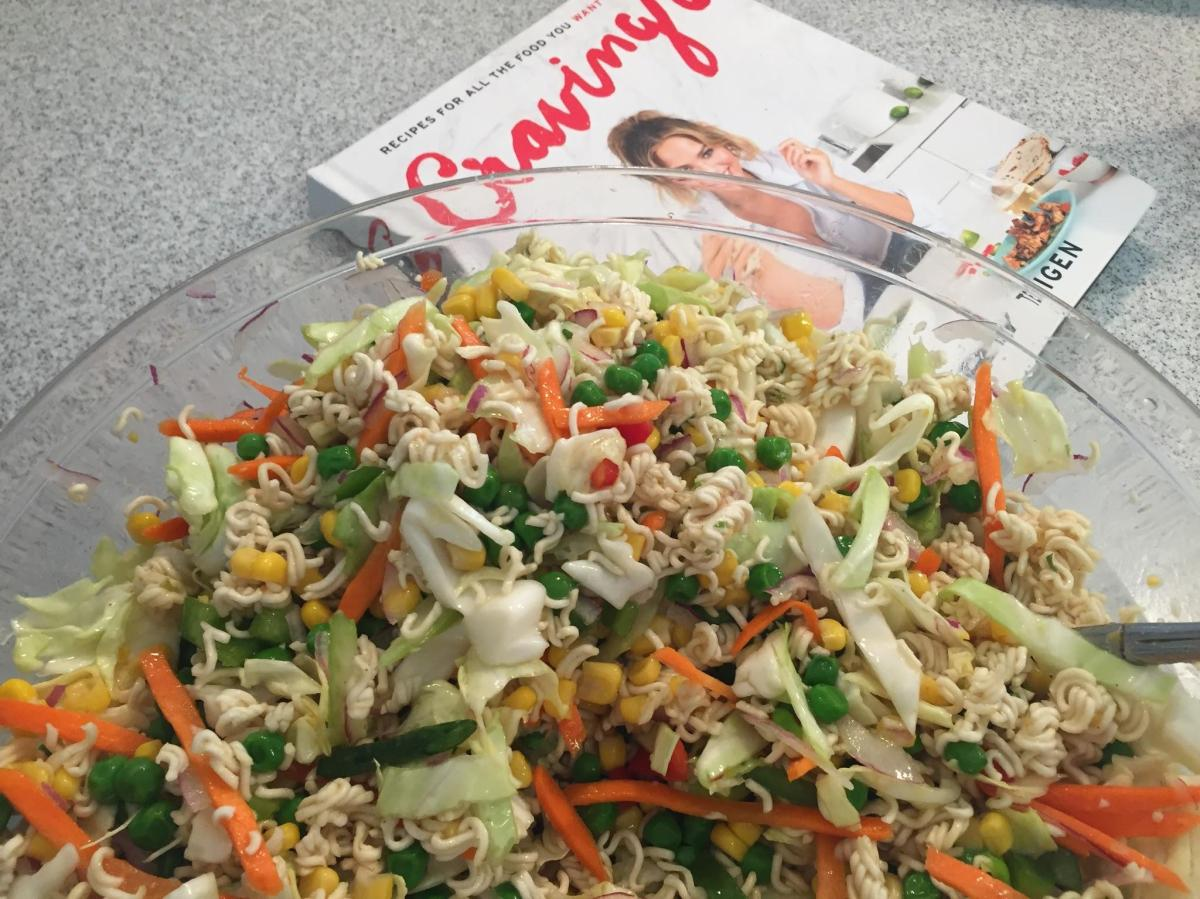 Only Easy:  Almost Chrissy Teigen's Ramen Salad