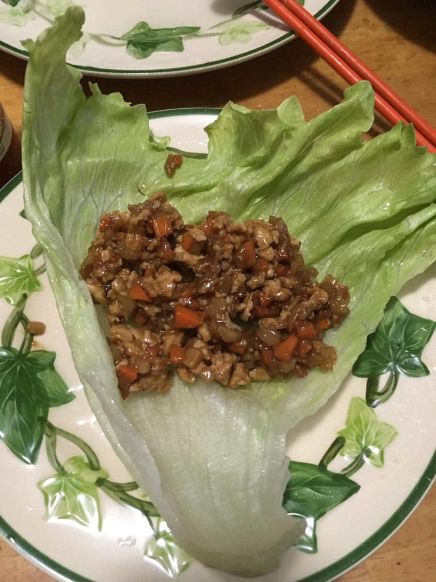 Hiromi in Hilo--Lettuce Wraps for Dinner