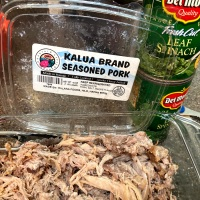 Shelter-In-Place Kalua Pork with Canned Spinach