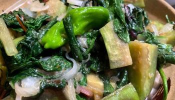 Thai Cooking Shrimp Eggplant Basil Stir Fry Living Hilo Style
