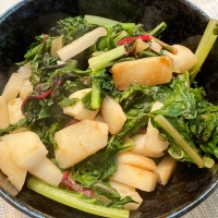 Braised Turnips with Swiss Chard Greens Thanks to Hawaii Eco Farm Box
