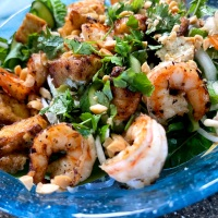 Leftover Costco Shrimp = Vietnamese Noodle Shrimp Salad
